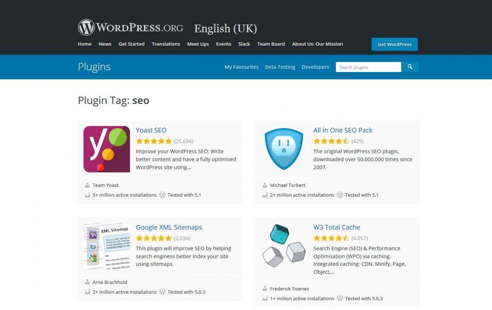 Wordpress SEO plugins by download